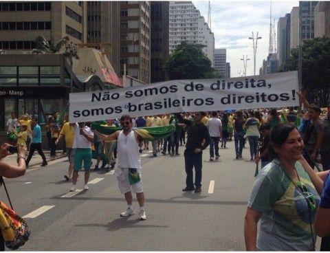 O 15 DE MARÇO 1 – Dois milhões saem às ruas de verde e amarelo contra a roubalheira. Em paz, manifestantes protestam contra o PT, pedem a punição dos culpados e o impeachment de Dilma. Ou: O movimento das pessoas direitas
