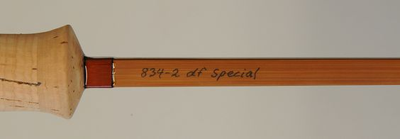 """Brandin 834-2 df Special; 8'3"""" 2 pc / 1 tip spliced joint quad for #4 line."""