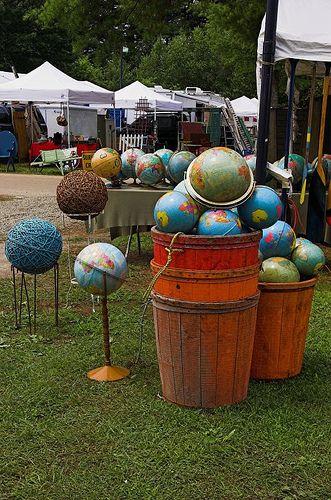 Globes at Brimfield