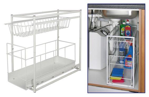 Einbauschublade für Spülschrank - Küchenauszug Schrankauszug Teleskop Schublade