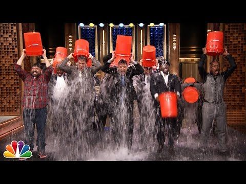 ▶ Rob Riggle, Horatio Sanz, Steve Higgins, The Roots, & Jimmy Take the ALS Ice Bucket Challenge - YouTube
