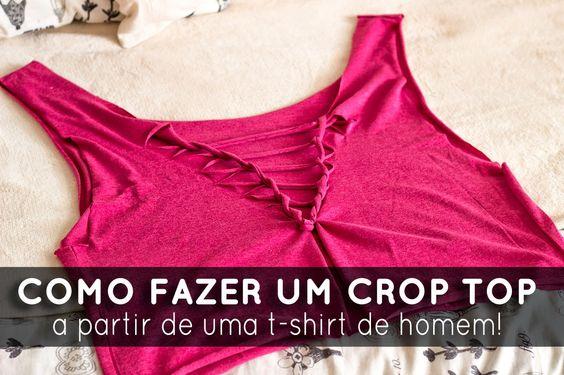 [en] joy. by C.: DIY | Fazer um crop top a partir de uma t-shirt de homem!