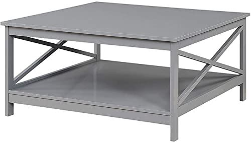 Amazing Offer On Convenience Concepts Oxford 36 Square Coffee Table Gray Online Toplikestore In 2020 Coffee Table Coffee Table Square Wood Table Living Room