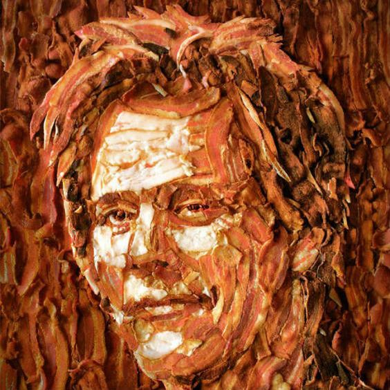 Bacon Kevin Bacon. 10 Mosaics Made With Unusual Objects | Mental Floss
