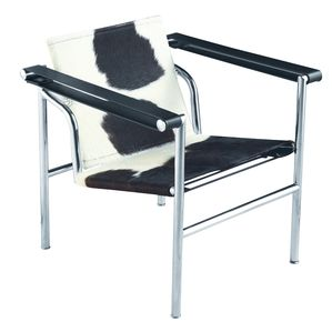 Fine Mod Imports String Pony Flat Chair in Black