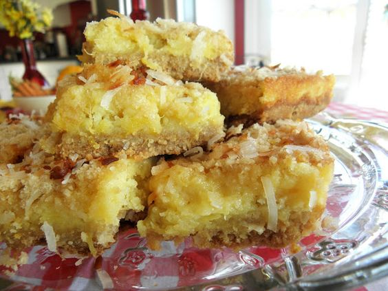 Tropical Pineapple & Coconut Bars   ... Recipe ... Yummy