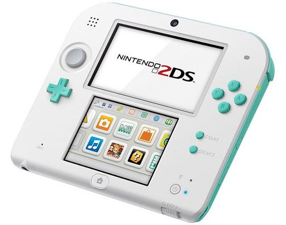 Nintendo 2DS Gets Sea Green Color (This looks so pretty, oh my gosh)