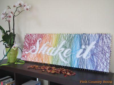 ma version du tableau clous fils faits pinterest nail art art et ongles. Black Bedroom Furniture Sets. Home Design Ideas