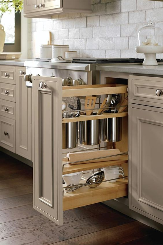 Our Base Utensil Pantry Pull Out Cabinet keeps your utensils ...