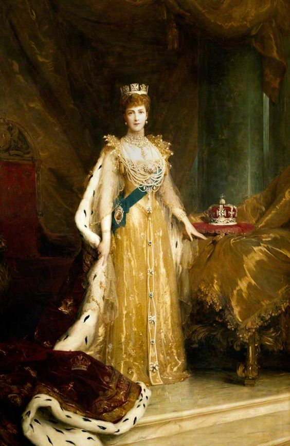 tinylibrarian:   Coronation Portraits of Queens and Queen Consorts of the United Kingdom-Queen Alexandra, Consort of King Edward VII