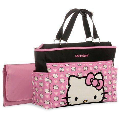 hello kitty diaper bags baby gear nursery decor pinterest bags diaper bags and kitty. Black Bedroom Furniture Sets. Home Design Ideas
