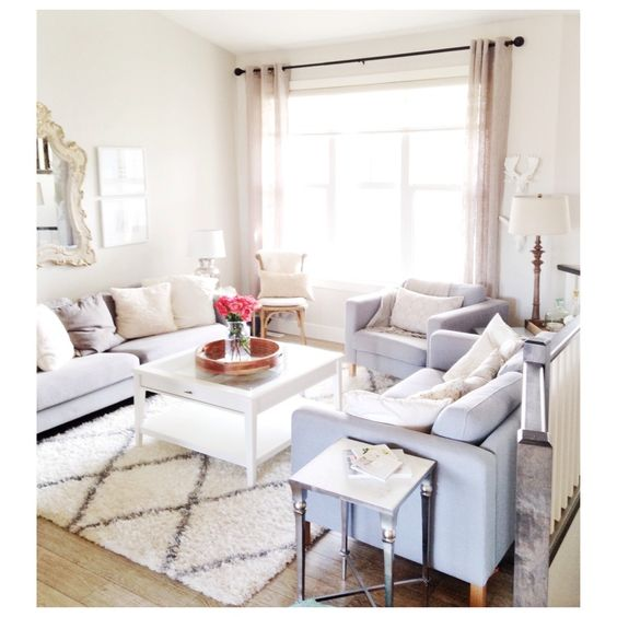 My Light And Airy Living Room Transformation: Rugs, Living Rooms And Lights On Pinterest