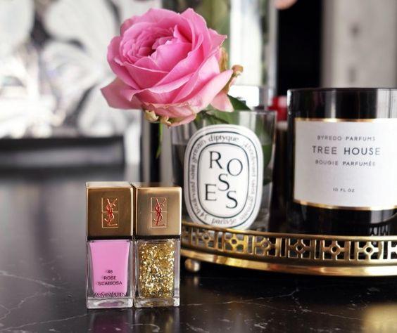 Golden Glitter & Pink From YSL