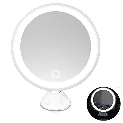 Rantizon Led Makeup Mirror 7x Magnifying Lighted Illuminated Cosmetic Rechargeable Mirror 360 Rotation Adjust Led Makeup Mirror Cosmetic Mirror Shaving Mirror