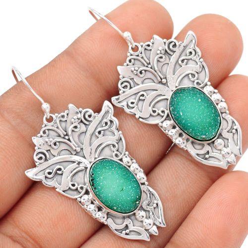 Sacred-Angel-Wings-Green-Agate-Druzy-925-Silver-Earrings-SE106242