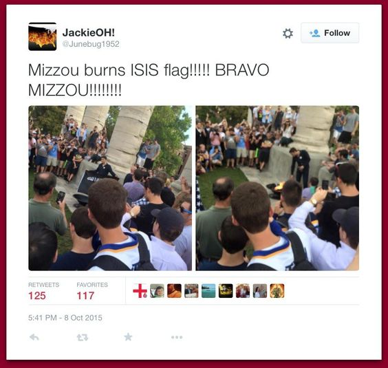 University Of Missouri Students Burn ISIS Flag... Muslim Students Opt Out