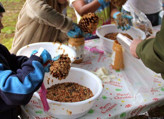 Earth Day, huffingtonpost: Build a bird feeder. peanutEarth_Day #huffingtonpost