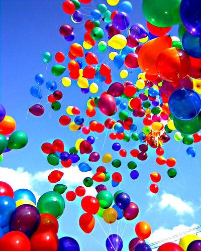 My emotions are like these colorful balloons.... Pop! sadness, Pop joy! ect'