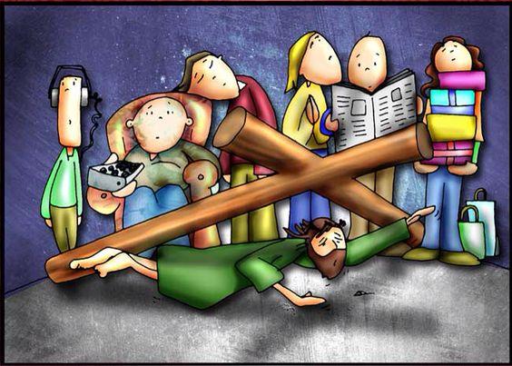 Resultado de imagen para III Estación: Cae Jesús por primera vez