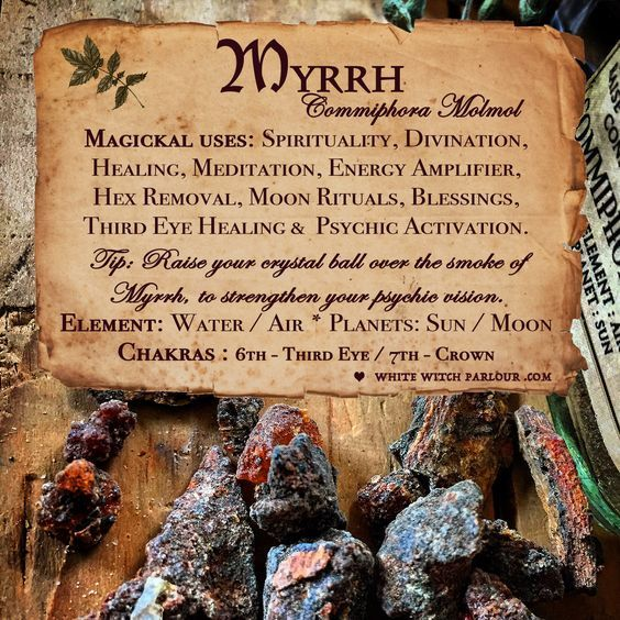 Magical Uses Of - Myrrh | Magic herbs, Herbal magic, Witch herbs