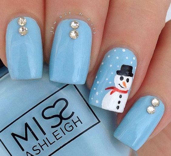 Passo a Passo – unhas natalinas com boneco de neve