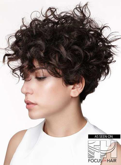 6 Curly Short Hairstyle Curlyhaircut Curly Hair Styles Short Curly Hair Short Hair Styles