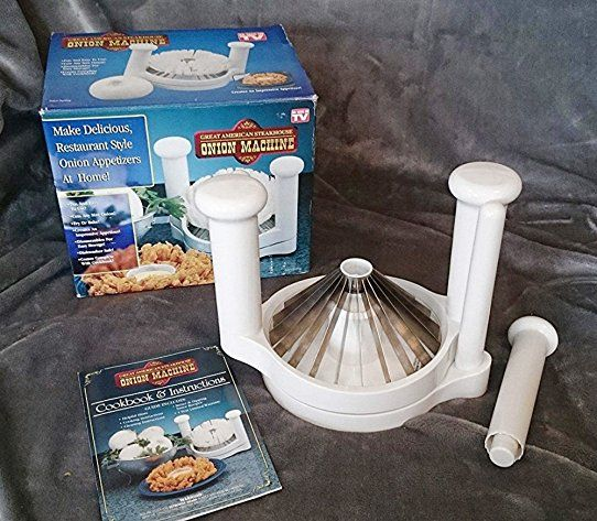 Blooming Onion Cutter Blossom Maker Set with Bread Batter Bowl Kit Slicers Gift