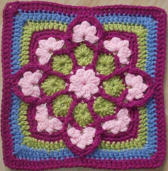 Stained Glass Afghan Square | Ravelry: JulieAnny's Stained Glass Afghan Square pattern by Julie ...