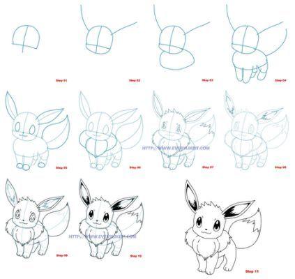 How to draw eevee pokemon