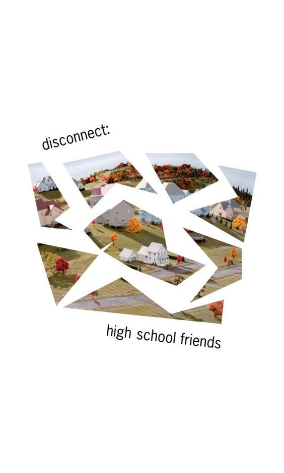 """disconnect: high school friends [unkool submission]"" by lumoswhispers ❤ liked on Polyvore featuring art"