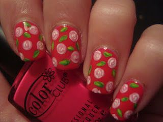 Chopped Roses - Paint that nail. Pretty!