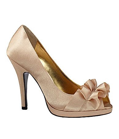 Nina Evelixa Satin Pumps Dillards Could Be Really Cute And Inexpensive Wedd