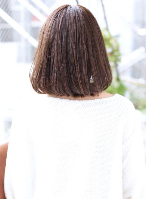 ミディアム 大人かわいい ワンカールロブ Houleの髪型 ヘア