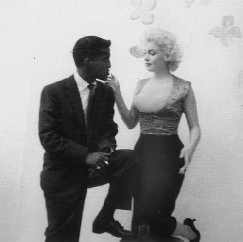 Marilyn with Sammy Davis, Jr.