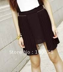 irregular hem pleated skirt - Google Search