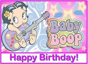 Details About Edible Cake Image Baby Boop Happy Variety Happy Birthday Wishes