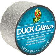 """Walmart: Duck Brand Glitter Tape, 1.88"""" x 180 inches, Silver"""