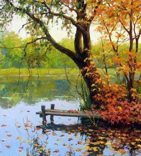 41 Ideas Autumn Tree Watercolor Landscape Paintings In 2020 Watercolor Landscape Paintings Oil Painting Landscape Landscape Paintings