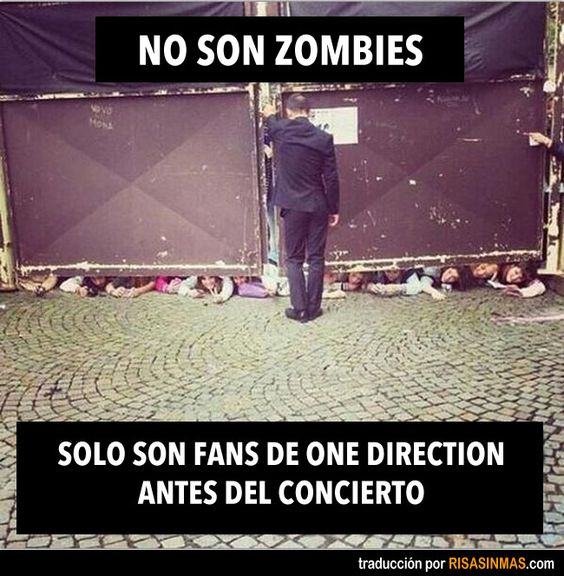 No son zombies. Solo fans de One Direction antes del concierto.