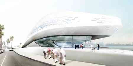 Texture/pattern to surface of building, sweeping like sand or water....zaha-bahrain-2