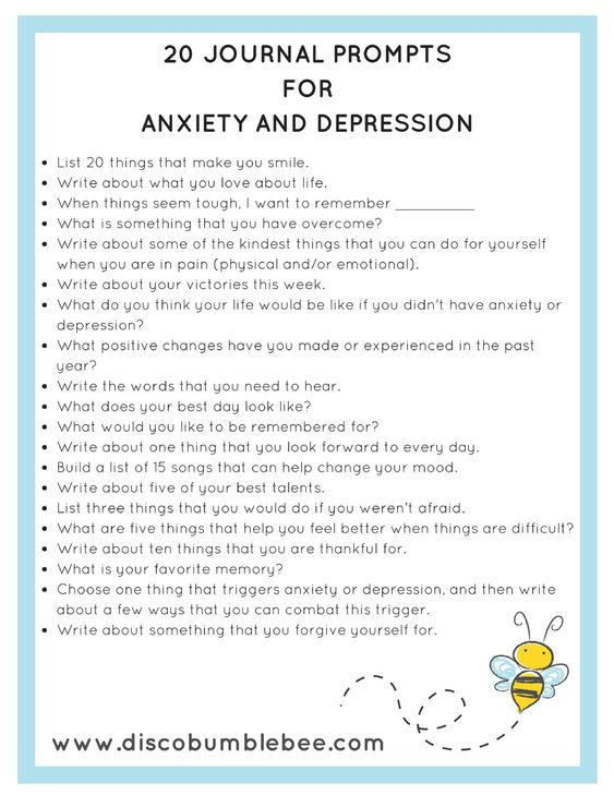 journal prompts for anxiety and depression