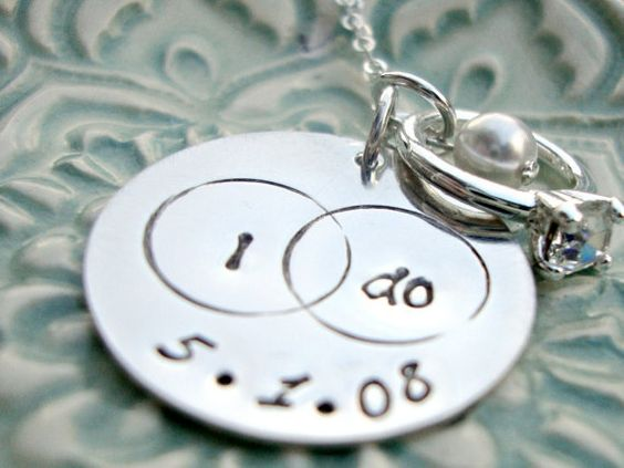 BRIDAL Necklace I Do Necklace Wedding Keepsake Hand Stamped Jewelry by Three Little Pixies Boutique