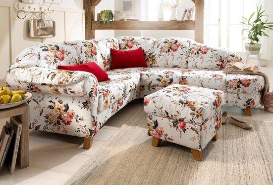 Home Affaire Ecksofa Mayfair Mit Federkern Mit Blumenmuster Online Kaufen In 2020 Ecksofas Ecksofa Und Sofa