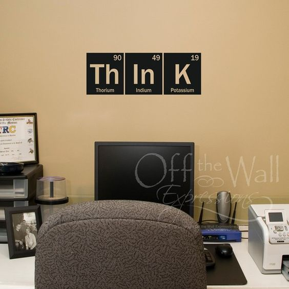 think wall decal periodic table decal elements vinyl decal science decor periodic table. Black Bedroom Furniture Sets. Home Design Ideas