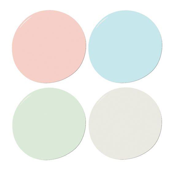 Coral, Mint and Aqua Sample Paint Set – The Project Nursery Shop