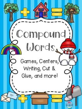 "Compound Words  Compound Words Compound Words   Compound Word activities, Compound Word centers, Compound Word worksheetsThis 23 page activity set includes: - 1 compound words anchor chart- 5 compound words cut out and match center pages- 2 compound words cut and glue worksheet- 1 compound words ""write the word"" page- 4 compound words write a sentence pages- compound words concentration game (color and black/white)This product is part of the ULTIMATE K/1 READING BUNDLE!ULTIMATE K/1 READING…"