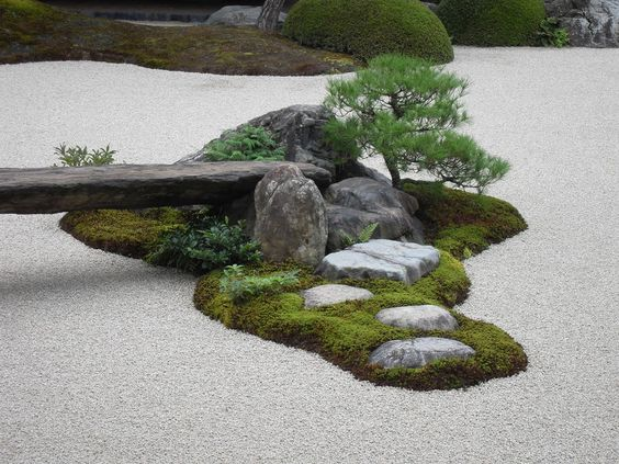 Garden outside of Adachi Museum of Art in Japan: