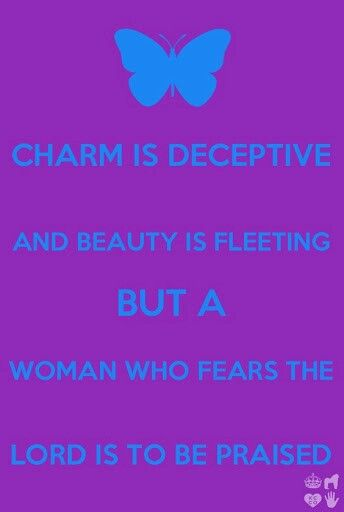 Woman who fears the Lord..