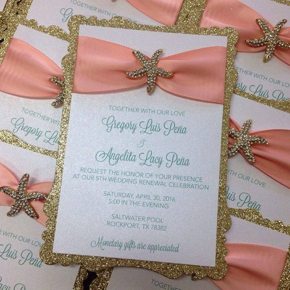 Ideas de invitaciones/ boda en la playa 1
