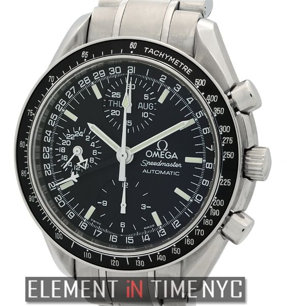 #Omega #Speedmaster Triple Calendar Chronograph 39mm iN Stainless Steel With A Black Dial (375.0084)